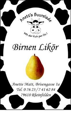 Birnen-Likör