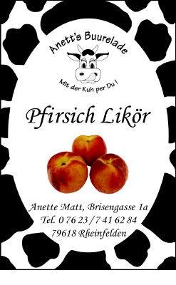 Pfirsich-Likör