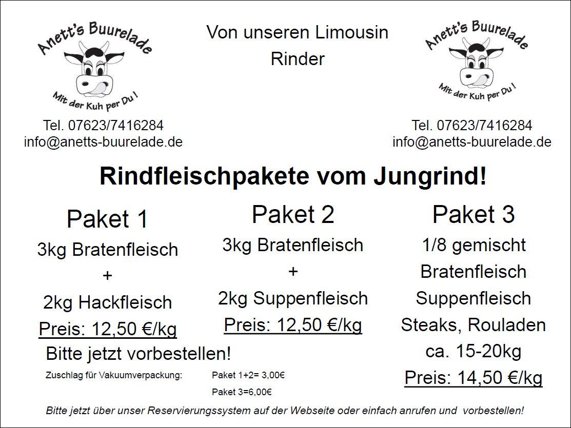 Rindfleischpakete