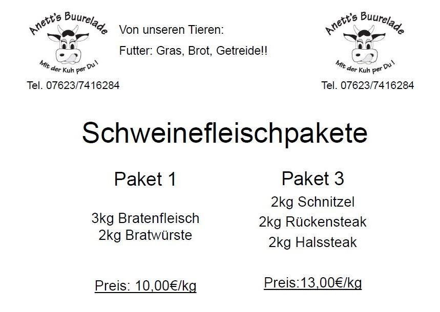 Schweinefleischpakete